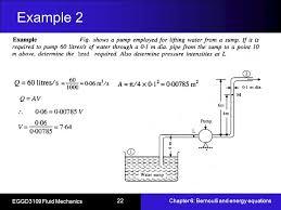 bernoulli 39 s equation pump. 22 example bernoulli 39 s equation pump p