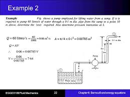 22 example 2 eggd3109 fluid mechanics chapter 6 bernoulli and energy equations