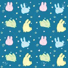 Fluffy Bunnies Wallpaper Seamless ...