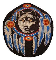 native american dreamcatcher wolf. Perfect Dreamcatcher Black Wolf Dreamcatcher Native American Patch  4 12u0026quot Tall Veteran  Owned Intended