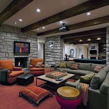Lounge Rustic Basement Ideas