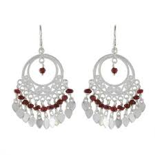 garnet chandelier earrings admiration sterling silver and garnet chandelier earrings