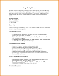 Example Of Paralegal Resume Examples Of Resumes