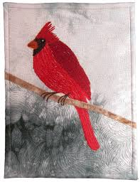 Winter Cardinal Quilt | Color On Cloth & Advertisements Adamdwight.com