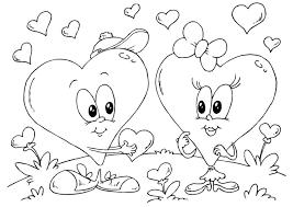 Kleurplaat Hartjes Valentijn Afb 24612 Images