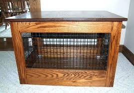dog crate side table diy how