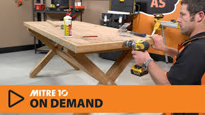 Building Dining Table How To Build A Dining Table Mitre 10 Easy As Youtube