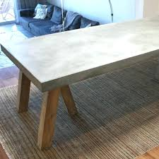 concrete top table concrete top outdoor dining table outdo s room and inside design make round