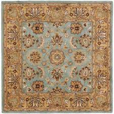 heritage blue gold 8 ft x 8 ft square area rug