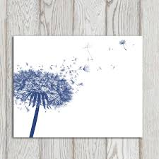 navy blue wall art impressive dandelion decor print home ideal blue wall art for