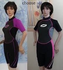O Rageous Size Chart Details About Orageous Black Gray Pink Or Purple Short Sleeve Womens Short Zip Wetsuit S M