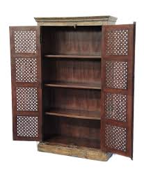 Antique Storage Cabinets Tall Storage Cabinet With Antique Indian Doors Custom Furniture