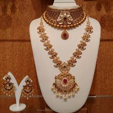 Latest Gold Sets Designs In India Gold Antique Bridal Jewellery Sets From Naj South India Jewels