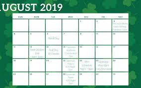 August Calandar Save The Dates Trinitys August Calendar Trinityrocks