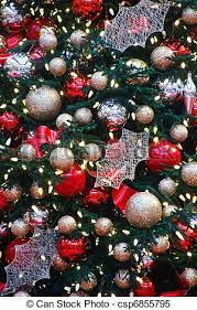 Decorating Christmas Tree With Balls Inspiration Gold And Silver Balls On Christmas Tree A Beautifully Decorated