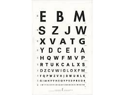 Eye Chart Poster Sans Serif Eye Chart Poster Paper Hammer