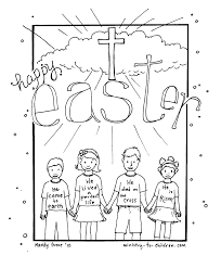 Christian Easter Coloring Pages Printable Free