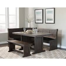 Dining nook furniture Small Breakfast Nook Murilda Breakfast Nook Dining Set Wayfair Dining Nook Set Wayfair