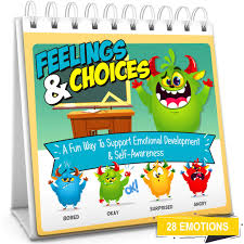 Feelings Choices Flip Book Teach 28 Emotions To Kids Toddlers Early Learning Feelings Chart Book Flash Card Alternative Autism Asd