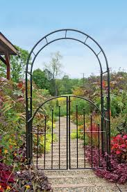 Small Picture Metal Garden Arbors and Trellises Garden Arbor with Gate