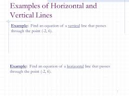 examples of horizontal and vertical lines