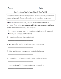Englishlinx.com | Conjunctions Worksheets