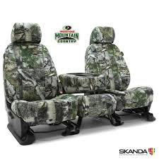 mossy oak camo car seat covers low back
