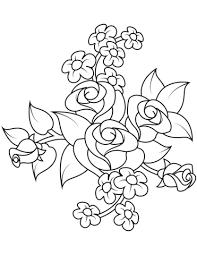 Disegno Di Bouquet Di Rose Da Colorare Disegni Da Colorare E