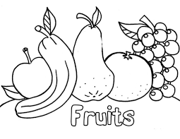 Kids Coloring Pages Free Printable Fruit