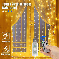 Ebay India Led Lights Details About Curtain String Fairy Light Bedroom Wedding Lighting Waterfall 300 Led Usb Remote