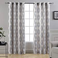 Gray and beige curtains Shower Curtain Driftaway Adrianne Damaskfloral Pattern Thermalroom Darkening Grommet Unlined Window Curtains Set Amazoncom Beigegrey Curtains Amazoncom