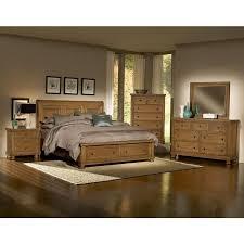 Bedroom Sets Reflections Queen Storage Bedroom Set - Oak at High ...