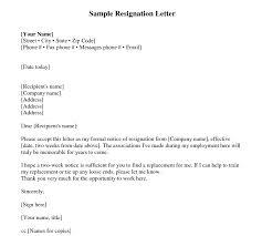 Sample Resignation Letter 2 Weeks Notice Ndash Every Last