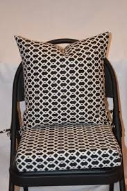 black and cream fabric seat cushion cover by brittaleighdesigns