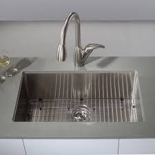 kraus 32 inch undermount single bowl 16 gauge stainless steel kitchen sink with noisedefend soundproofing free today com 11477728