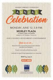 celebration invite saginaw community foundation 2017 annual celebration
