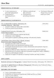 Veteran Resume Examples Free Resume Templates 2018