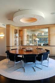 hall table display ideas round dining room contemporary with built ins nickel semi and hutch