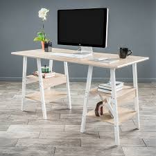 best ing home decor zeta transitional light maple computer desk