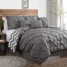 gray bedding sets mainstays leaf medal bed in a bag bedding set