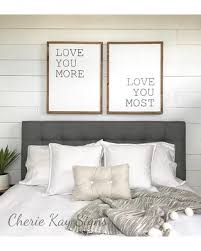 Master bedroom wall decor Contemporary Master Bedroom Wall Decor Love You More Love You Most Sign Set Master Bedroom Decor Sign Better Homes And Gardens Huge Deal On Master Bedroom Wall Decor Love You More Love You Most
