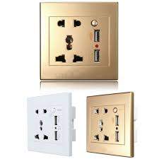 5 wall plug 2 usb port new