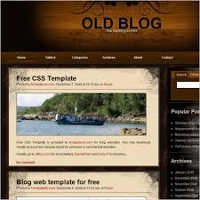 Blog Website Templates Extraordinary Old Blog Free Website Templates In Css Js Format For Free