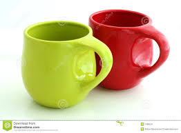 Red and Green Coffee Mugs
