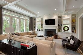 built ins around windows living room traditional with large windows shelf wall unit bookcases