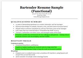 Bartender Resume Sample Writing Tips Resume Companion