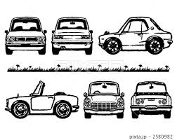 旧車 イラストカー 旧車イラスト かわいい車の写真素材 Pixta
