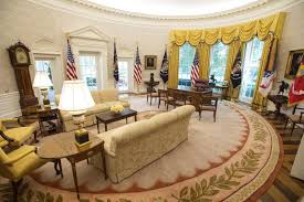inside the oval office. The Newly Renovated Oval Office Features New Carpeting And Other Cosmetic Improvements. Photo By Kevin Dietsch/UPI | License Inside T