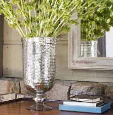 pottery barn footed mercury glass vase