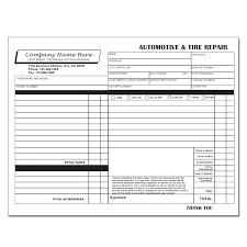auto body repair invoice auto estimate template